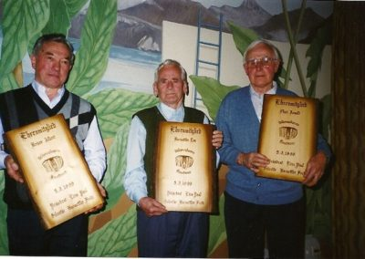 Die ersten Ehrenmitglieder des Vereins